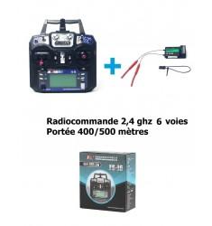 Radiocommande 6 voies flysky avec portée 400/500 Mètres