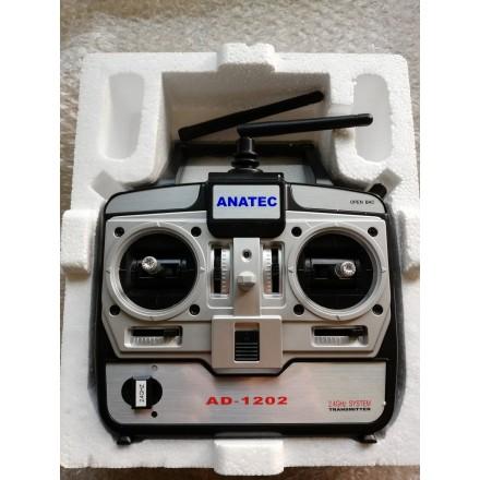 Radiocommande ad 1202 avec récepteur et antenne pour anatec pac boat et monocoque