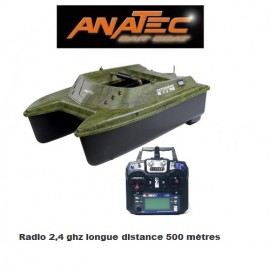 Anatec catamaran bateau amorceur avec radiocommande longue portée