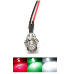 Led 5mm avec support chrome 6/13V