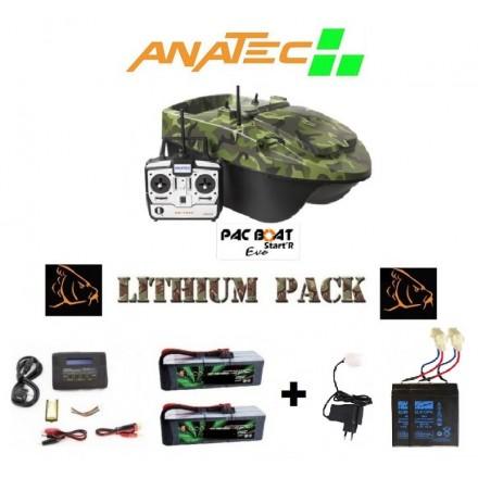 Bateau amorceur anatec pac boat batteries lithium