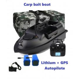 Carpe bait boat GPS autopilote + batteries litium
