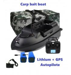 Bateau amorceur Carpe bait boat GPS autopilote + batteries litium