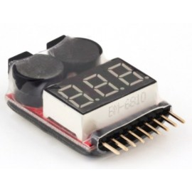 Indicateur tension numerique pour batterie lipo/lithium avec alarme