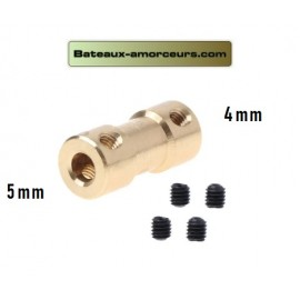 Accouplement rigide 5mm par 4mm