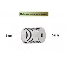 Accouplement souple 5mm par 4mm