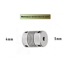 Accouplement souple 5mm par 4mm