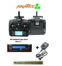 Batterie lipo pack pour radiocommande devo 7 anatec