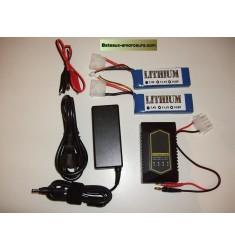 Pack batteries lipo pour toslon 640 et FC90/FF1/ALF100/FC500
