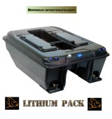 Catamaran tackle bateau amorceur lipo/lithium