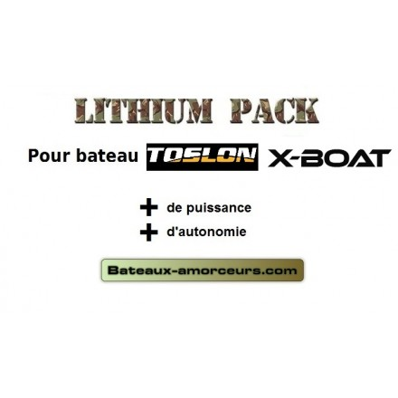 Batteries toslon x boat lithium 8ah