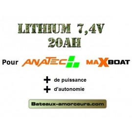 Batteries lithium 20ah pour maxboat et catamaran anatec