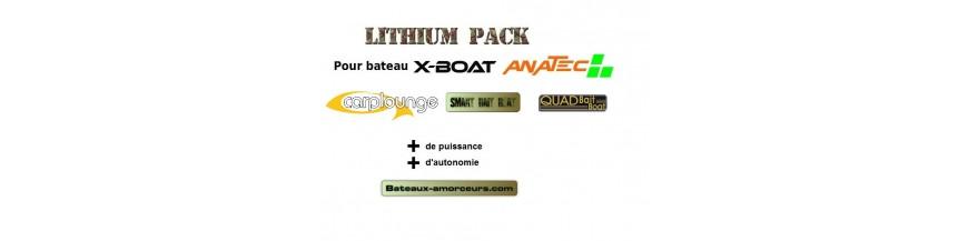 Batteries LIPO/LITHIUM bateaux amorceurs